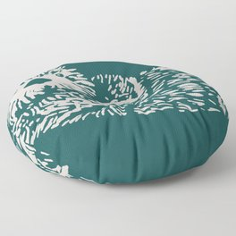 The handsome sea otter Floor Pillow