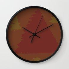 Fall Trees Wall Clock