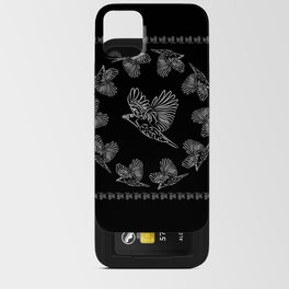 World crows. Crows in different framework, round, square. iPhone Card Case