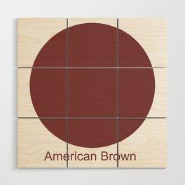 American Brown Wood Wall Art