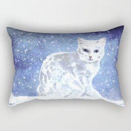 Abstract white cat Rectangular Pillow