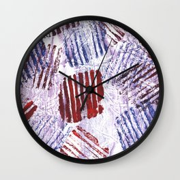 Abstract striped painting Wall Clock