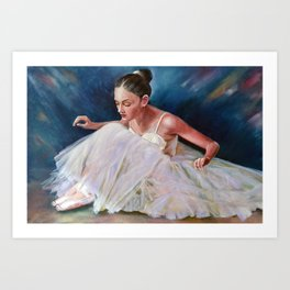 Ballerina  #  2 Art Print