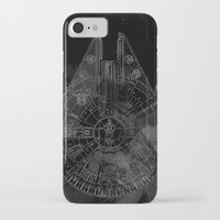 millenium falcon iPhone & iPod Cases featuring Millenium Falcon by Black Brain