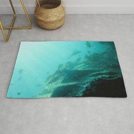 Watercolor Seascape, St John 36, USVI Rug
