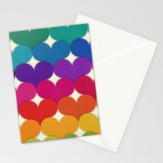 Rainbow Hearts Stationery Cards