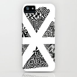 Asterisk, Black/White Abstract (ink drawing) iPhone Case