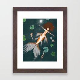 Koi Maiden GinRin Kohaku Framed Art Print