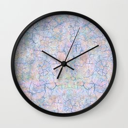 She Talks to Rainbows // Unicorn color dusted rock Wall Clock