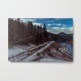 Alpine railway Metal Print