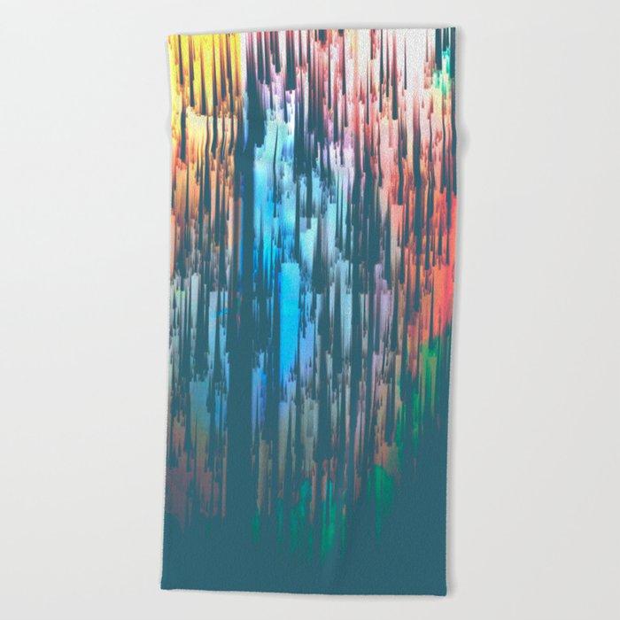 Raining Colors Beach Towel