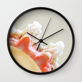 Pink Shell Wave Wall Clock