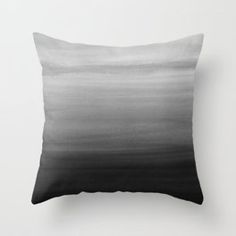 Touching Black Gray White Watercolor Abstract #1 #painting #decor #art #society6 Throw Pillow