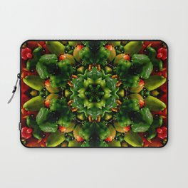 Peppy pepper mandala - green center Laptop Sleeve
