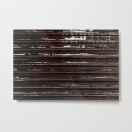 Industrial Longitude, Urban Decay, Chipped Paint Metal Print