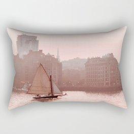 Boston skyline and fog Rectangular Pillow