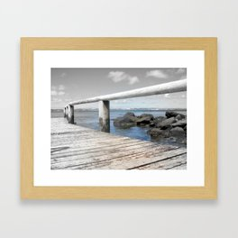 Jetty at bridgewater Framed Art Print