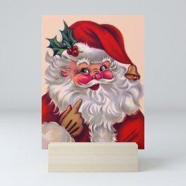 Cute vintage santa claus 2 Mini Art Print