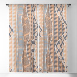 Wrap in Orange Sheer Curtain