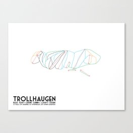 Trollhaugen, WI - Minimalist Winter Trail Art Canvas Print