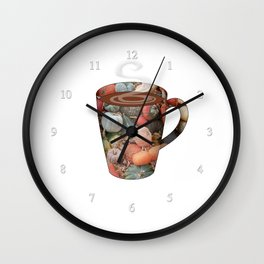 pumpkin spice tall mug - coffee cup series Wall Clock