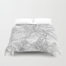 Basel Map Line Duvet Cover