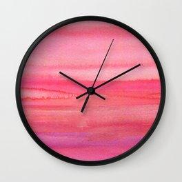 Sea of Rose Quartz Wall Clock
