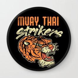 Muay Thai Strikers Tiger Kickboxing MMA Material Arts Judo Karate Gift Wall Clock
