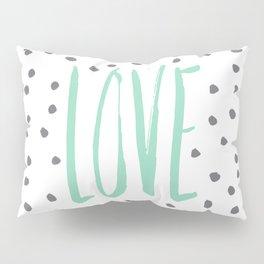 Love dot com — mint Pillow Sham