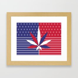 Cannabis USA Framed Art Print
