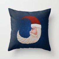 santa Throw Pillows featuring Santa  by Brandy Coleman Ford