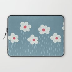 Rainy Flowery Clouds Laptop Sleeve