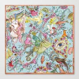 Garden of Eden blue sky Canvas Print