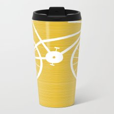 Yellow Bike by Friztin Metal Travel Mug