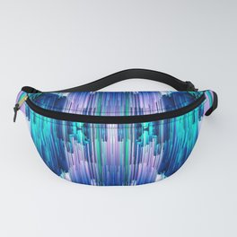 Cavernous Glitch - Abstract Pixel Art Fanny Pack