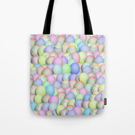 Pastel Colored Easter Eggs Tote Bag