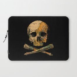 Treasure Map Skull Wanderlust Europe Laptop Sleeve