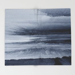 Abstract black painting 2 Throw Blanket