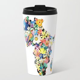 Map of Africa Travel Mug