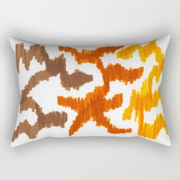 Bold Graphic Colorful Abstract Art Minimalist Tribal Pattern Mid Century Modern Rectangular Pillow