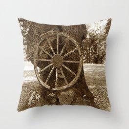 Historical Wagon Wheel Throw Pillow