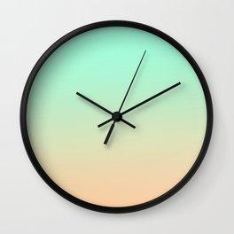 ALWAYS REMEMBER - Minimal Plain Soft Mood Color Blend Prints Wall Clock