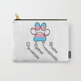 Cis-people Against Transphobia (CATS v2) Carry-All Pouch