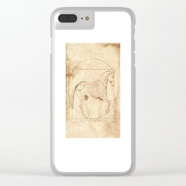 Da Vinci Horse In Piaffe Clear iPhone Case