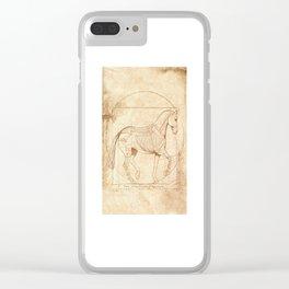 Da Vinci Horse In Piaffe Clear iPhone Case