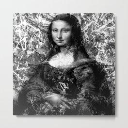MONA LISA (BLACK & WHITE VERSION) Metal Print
