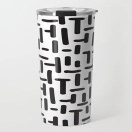 Seamless Black & White Abstract Decorative Pattern Travel Mug
