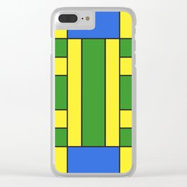 They were all yellow... blue and green Clear iPhone Case