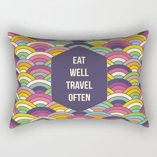 Eat Well Trravel Often Rectangular Pillow