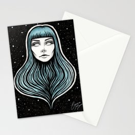 The Girl With No Body Stationery Cards